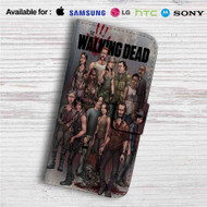 The Walking Dead All Characters With Zombie Custom Leather Wallet iPhone 4/4S 5S/C 6/6S Plus 7| Samsung Galaxy S4 S5 S6 S7 Note 3 4 5| LG G2 G3 G4| Motorola Moto X X2 Nexus 6| Sony Z3 Z4 Mini| HTC ONE X M7 M8 M9 Case
