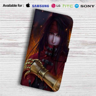 Vincent Valentine Final Fantasy VII Custom Leather Wallet iPhone 4/4S 5S/C 6/6S Plus 7| Samsung Galaxy S4 S5 S6 S7 Note 3 4 5| LG G2 G3 G4| Motorola Moto X X2 Nexus 6| Sony Z3 Z4 Mini| HTC ONE X M7 M8 M9 Case