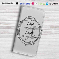 Wait For It Hamilton I am Inimitable Custom Leather Wallet iPhone 4/4S 5S/C 6/6S Plus 7| Samsung Galaxy S4 S5 S6 S7 Note 3 4 5| LG G2 G3 G4| Motorola Moto X X2 Nexus 6| Sony Z3 Z4 Mini| HTC ONE X M7 M8 M9 Case
