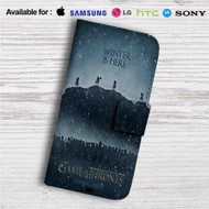 Winter is Here Game of Thrones Season 7 Custom Leather Wallet iPhone 4/4S 5S/C 6/6S Plus 7| Samsung Galaxy S4 S5 S6 S7 Note 3 4 5| LG G2 G3 G4| Motorola Moto X X2 Nexus 6| Sony Z3 Z4 Mini| HTC ONE X M7 M8 M9 Case