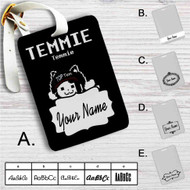 Temmie Undertale Custom Leather Luggage Tag