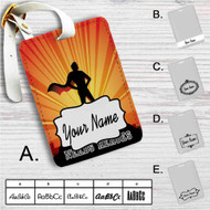 The World Needs Heroes Overwatch Custom Leather Luggage Tag