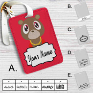 Yeezy Bear Kanye West Custom Leather Luggage Tag