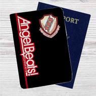 Angel Beats Custom Leather Passport Wallet Case Cover