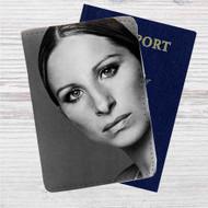 Barbra Streisand Custom Leather Passport Wallet Case Cover