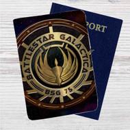 Battlestar Galactica Custom Leather Passport Wallet Case Cover