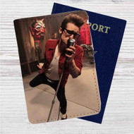 Brendon Urie Custom Leather Passport Wallet Case Cover