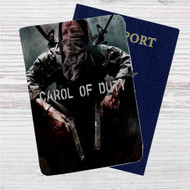 Carol of Duty The Walking Dead Custom Leather Passport Wallet Case Cover