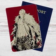 Doflamingo One Piece Custom Leather Passport Wallet Case Cover