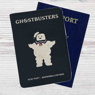 Ghostbusters Marshmallow Man Custom Leather Passport Wallet Case Cover