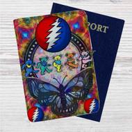 Grateful Dead Bears Custom Leather Passport Wallet Case Cover