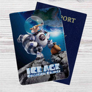 Ice Age Collision Course Astronaut Custom Leather Passport Wallet Case Cover