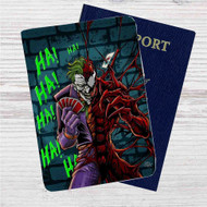 Joker and Carnage HaHaHa Custom Leather Passport Wallet Case Cover