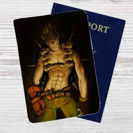 Junkrat Overwatch Custom Leather Passport Wallet Case Cover