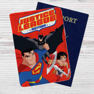 Justice League Action Custom Leather Passport Wallet Case Cover