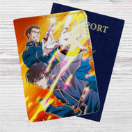 Mustang and Hughes Fullmetal Alchemist Custom Leather Passport Wallet Case Cover