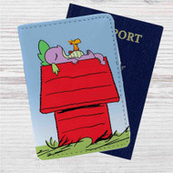 My Little Pony as Snoopy Custom Leather Passport Wallet Case Cover