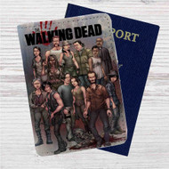 The Walking Dead All Characters With Zombie Custom Leather Passport Wallet Case Cover