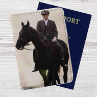 Thomas Shelby Peaky Blinders Custom Leather Passport Wallet Case Cover