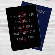 Twenty One Pilots Quotes Custom Leather Passport Wallet Case Cover
