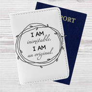 Wait For It Hamilton I am Inimitable Custom Leather Passport Wallet Case Cover