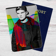 Avicii Custom Leather Passport Wallet Case Cover