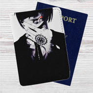 Black Butler Sebastian Michaelis Custom Leather Passport Wallet Case Cover