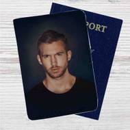 Calvin Harris Custom Leather Passport Wallet Case Cover