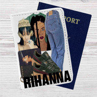 Consideration Rihanna Custom Leather Passport Wallet Case Cover