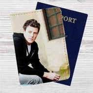 Cory Monteith Custom Leather Passport Wallet Case Cover