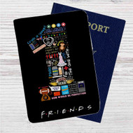 Friends TV Quotes Custom Leather Passport Wallet Case Cover