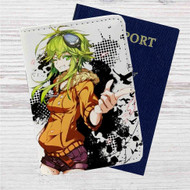 Gumi Jinsei Reset Button Custom Leather Passport Wallet Case Cover