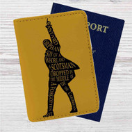Hamilton King of Broadway Custom Leather Passport Wallet Case Cover