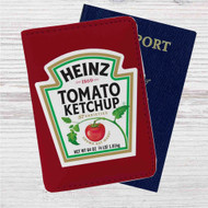 Heinz Tomato Ketchup Custom Leather Passport Wallet Case Cover