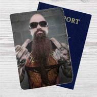 Kerry King Slayer Custom Leather Passport Wallet Case Cover