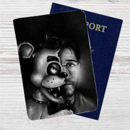 Markipler Freddy Fazbear Custom Leather Passport Wallet Case Cover