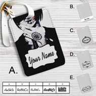 Black Butler Sebastian Michaelis Custom Leather Luggage Tag