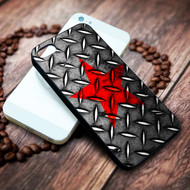red star on steel on your case iphone 4 4s 5 5s 5c 6 6plus 7 case / cases