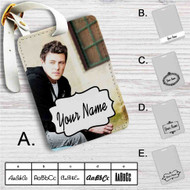 Cory Monteith Custom Leather Luggage Tag