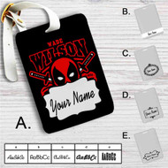 Deadpool Wade Wilson Custom Leather Luggage Tag