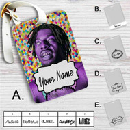 Flatbush Zombies Purple Custom Leather Luggage Tag