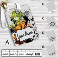 Gumi Jinsei Reset Button Custom Leather Luggage Tag