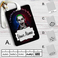 Jared Leto as Joker Suicide Squad Quotes Custom Leather Luggage Tag