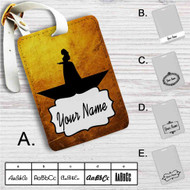 Peggy Schuyler Hamilton Music Custom Leather Luggage Tag