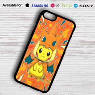 Pikachu as Mega Charizard Pokemon iPhone 4/4S 5 S/C/SE 6/6S Plus 7| Samsung Galaxy S4 S5 S6 S7 NOTE 3 4 5| LG G2 G3 G4| MOTOROLA MOTO X X2 NEXUS 6| SONY Z3 Z4 MINI| HTC ONE X M7 M8 M9 M8 MINI CASE