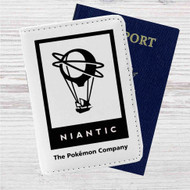 Niantic The Pokemon Company Custom Leather Passport Wallet Case Cover