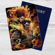 Phoenix Jean and Wolverine Custom Leather Passport Wallet Case Cover