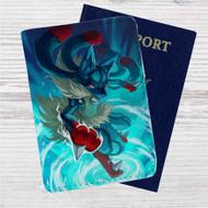 Pokemon Mega Lucario Art Custom Leather Passport Wallet Case Cover