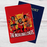 The Incredibles Bob Burgers Custom Leather Passport Wallet Case Cover