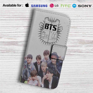 Bangtan Boys BTS Custom Leather Wallet iPhone 4/4S 5S/C 6/6S Plus 7| Samsung Galaxy S4 S5 S6 S7 Note 3 4 5| LG G2 G3 G4| Motorola Moto X X2 Nexus 6| Sony Z3 Z4 Mini| HTC ONE X M7 M8 M9 Case